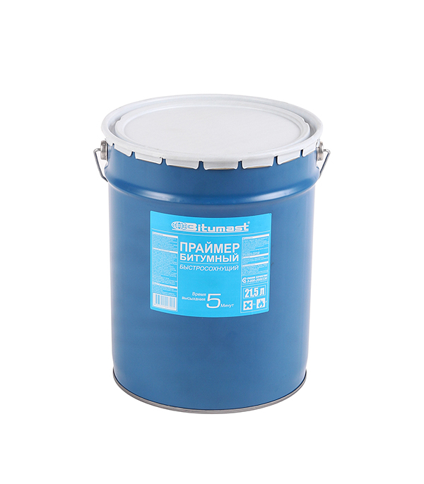 Праймер битумный быстросохнущий Bitumast 17 кг/ 21,5 л