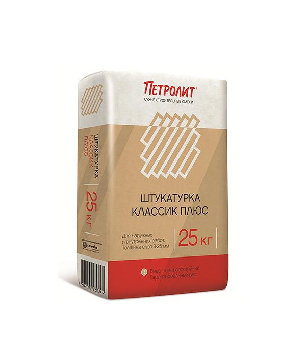 Петролит Классик + (штукатурка цементная), 25кг