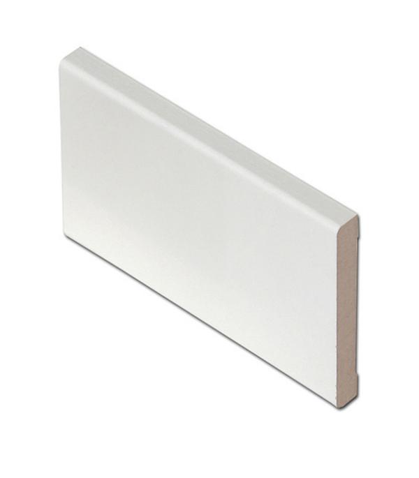 Наличник прямой финиш-пленка белый 58х8 мм