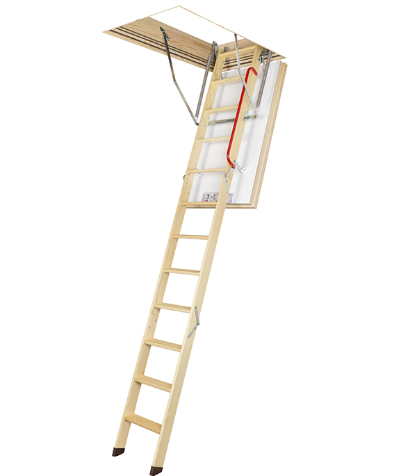 Лестница чердачная с теплосберегающей крышкой 70х130х305 см LWT Fakro Профи