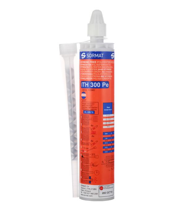 Анкер химический (инжекционная масса) 300 мл полиэстровая смола Sormat