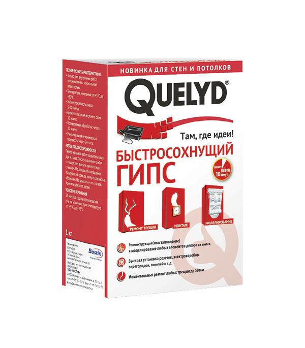Быстросохнущий гипс Quelyd, 1 кг