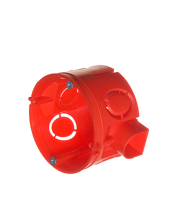 Коробка в бетон с/у установочная круглая с винтами без крышки d=64 мм, h=40 мм, Промрукав