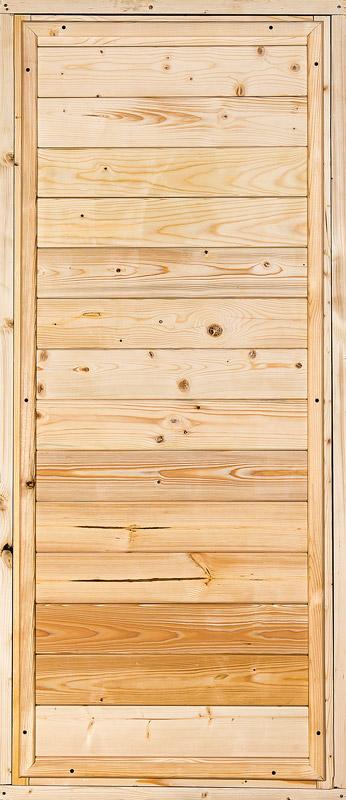 Дверной блок банный хвоя 770х1770 мм вагонка (3Д ДОЗ)