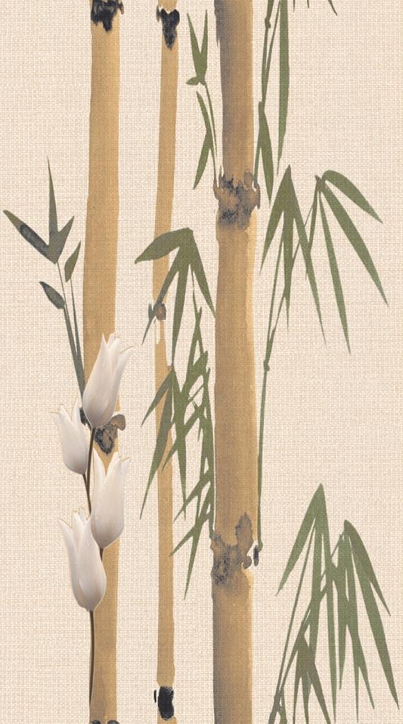 Плитка декор 250х450х8 мм Деми бамбук 2