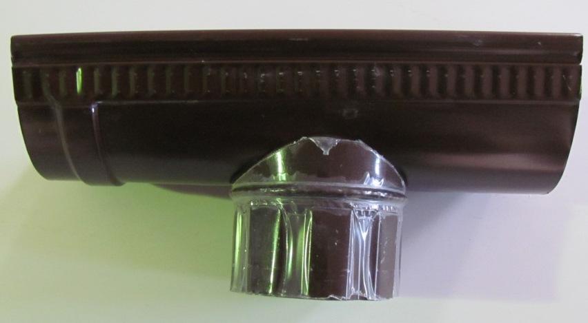 Канадка универсальная оцинкованная коричневая D-125 мм
