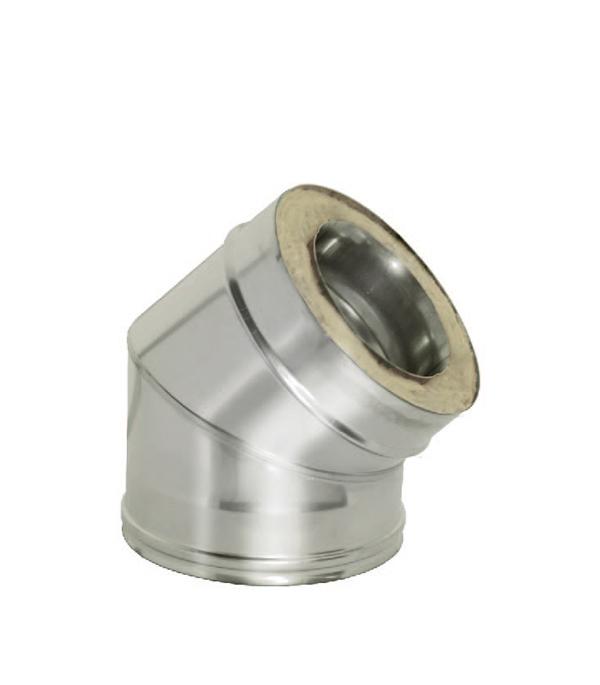 Отвод Дымок 45° с изоляцией 120x200 отвод дымок 45° с изоляцией 150x230