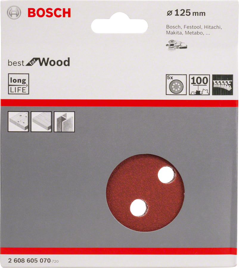 ���� ������������ � �������� �100 d=125 �� 5 ��, ��������������� Bosch �����
