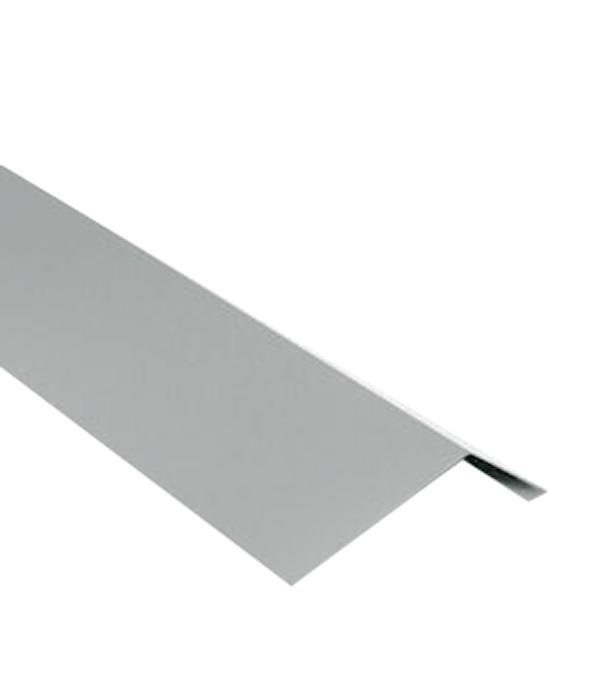 Планка карнизная для битумной черепицы 2 м серая RAL 7005