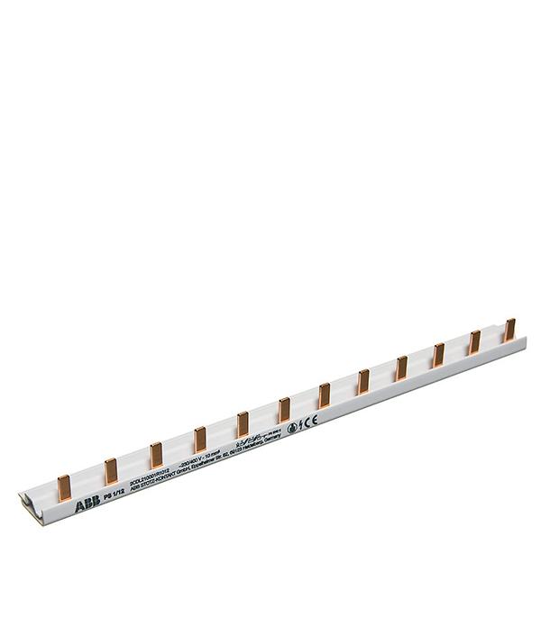 Шина соединительная ABB тип PIN штырь 1-рядная до 63А на 12 модулей телефонная розетка abb bjb basic 55 шато 1 разъем цвет черный