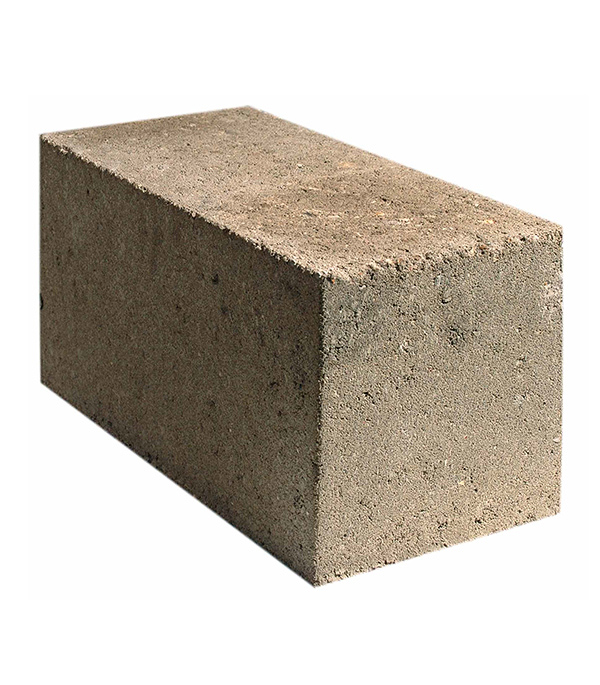 Блок керамзитобетонный полнотелый ФБС 390х190х188