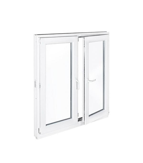 Окно металлопластиковое белое 1440х1160 мм 2 створки поворотно-откидное левое