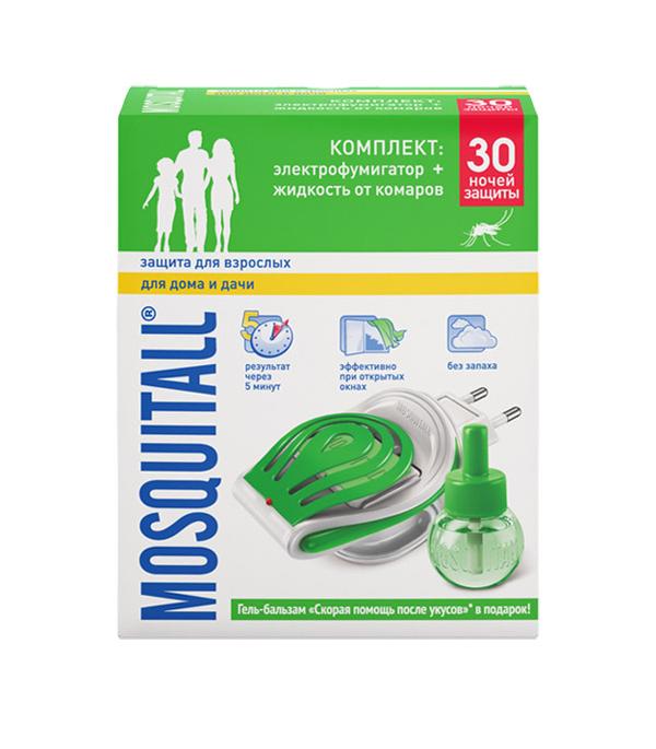 Москитолл, комплект от комаров: электрофумигатор и жидкость Универсальная защита 30 ночей