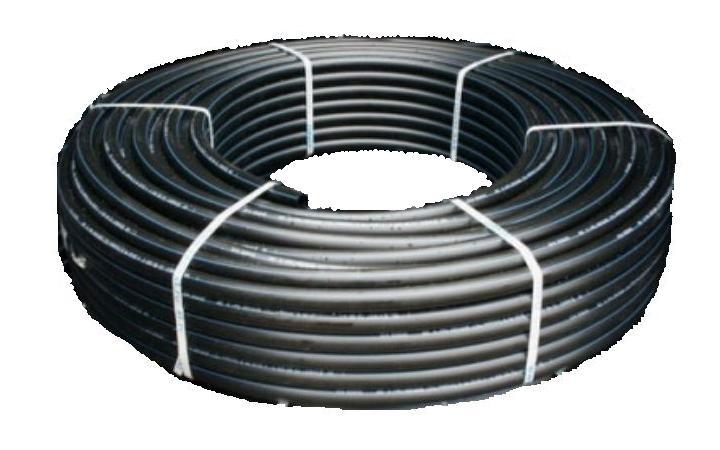 Труба ПНД ПЭ-100 для систем водоснабжения 50 мм бухта 100 м клапан обратный канализационный наружный 110 мм