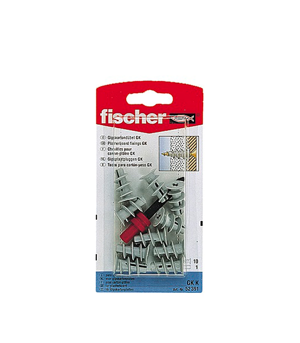 Дюбель для листовых материалов GK (10 шт.) нейлон Fischer