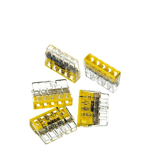 Зажим клемма Wago на 5 проводов 0.5-2.5 мм.кв без пасты (5 шт) комплект проводов для ваз21083 t356s
