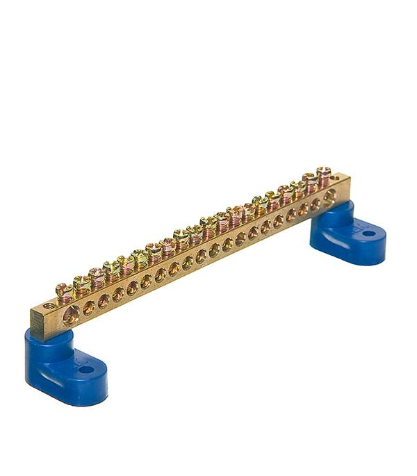 Нулевая шина на 2-х угловых изоляторах 20 отверстий нулевая шина в корпусе 2х7 iek ynd10 2 07 100