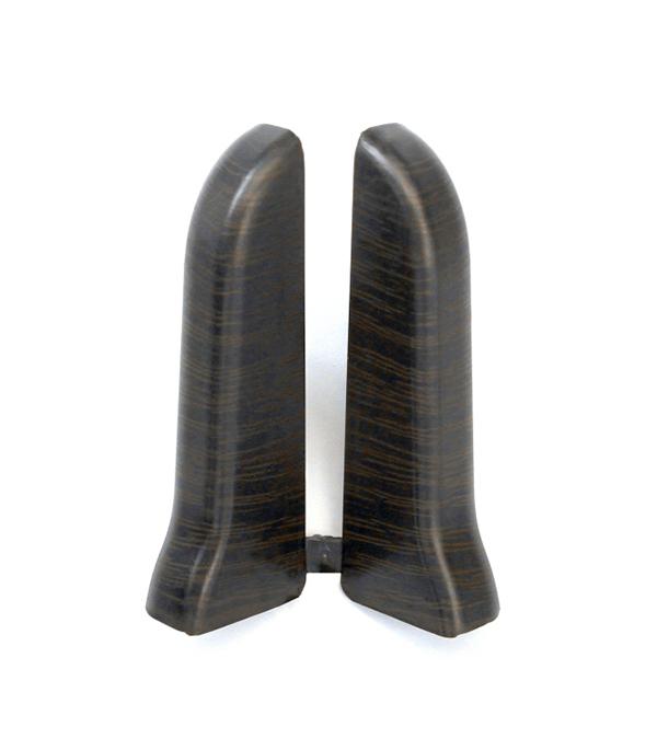 Заглушки торцевые (левая+правая) Венге черный 67 мм