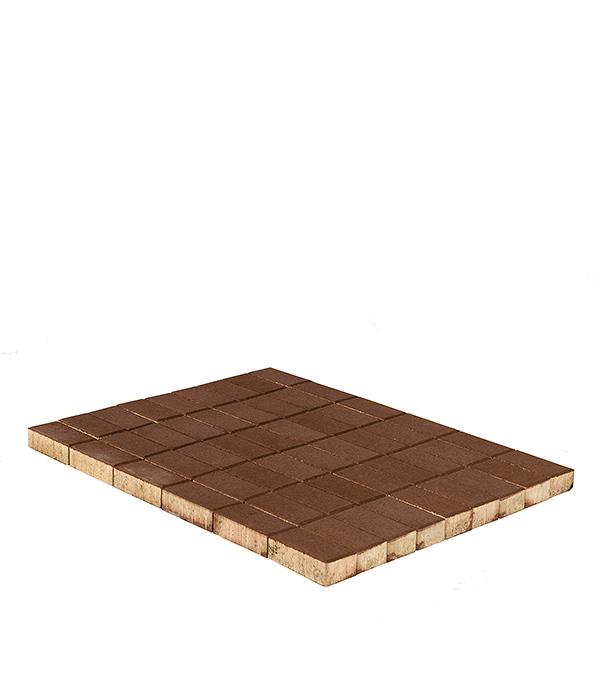 Плитка тротуарная Брусчатка (кирпичик) 100х200х60 мм коричневая щебень известняковый в калуге