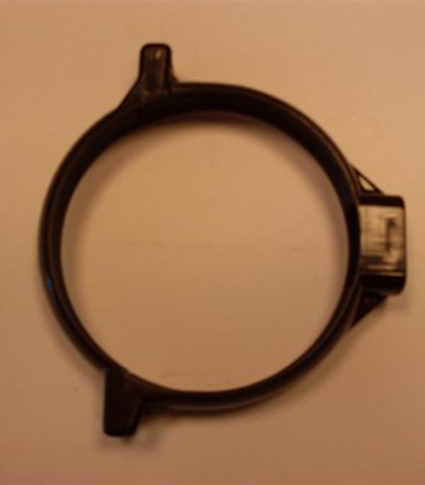 Хомут трубы пластиковый d100 коричневый (без шурупа) Murol