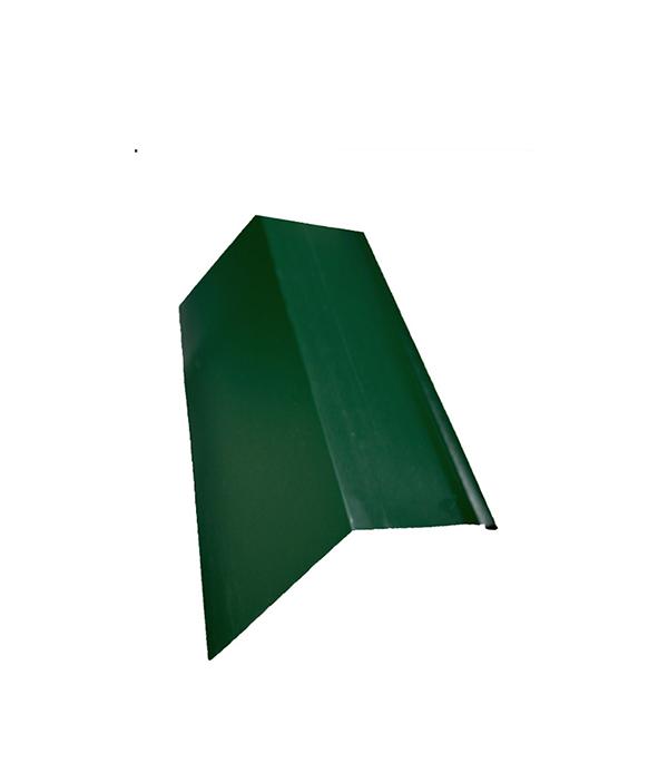 Планка карнизная для металлочерепицы 80х100 мм, 2м  зеленая RAL 6005