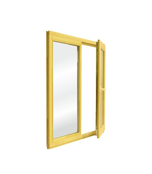 Окно деревянное РадДоз 1160х1000 мм 2 створки (глухая - поворотная) анкерная пластина 150х25х1 2 мм 10 шт поворотная для профиля rehau