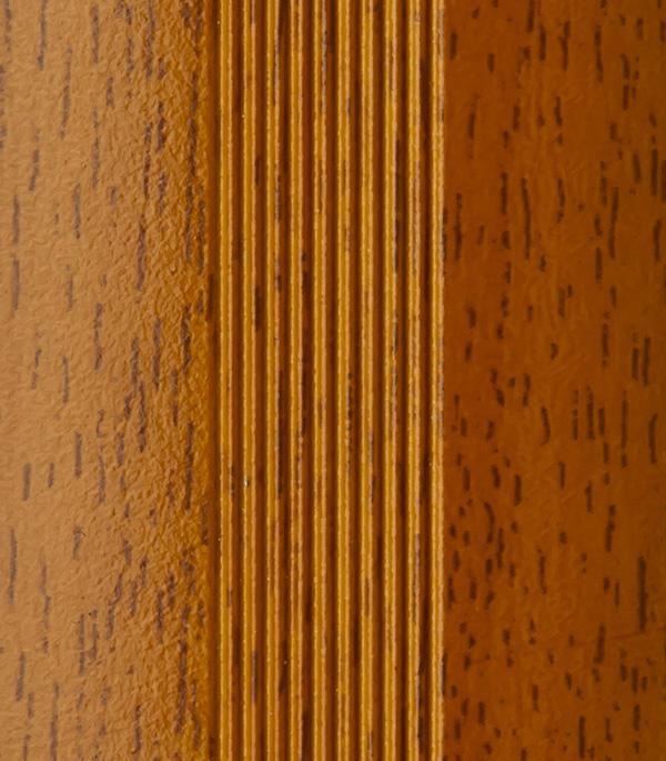 Порог стыкоперекрывающий 40х900 мм с дюбелем вишня