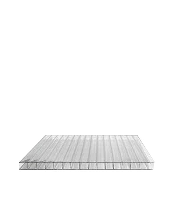 Поликарбонат сотовый прозрачный 2100х6000х8 мм строительный