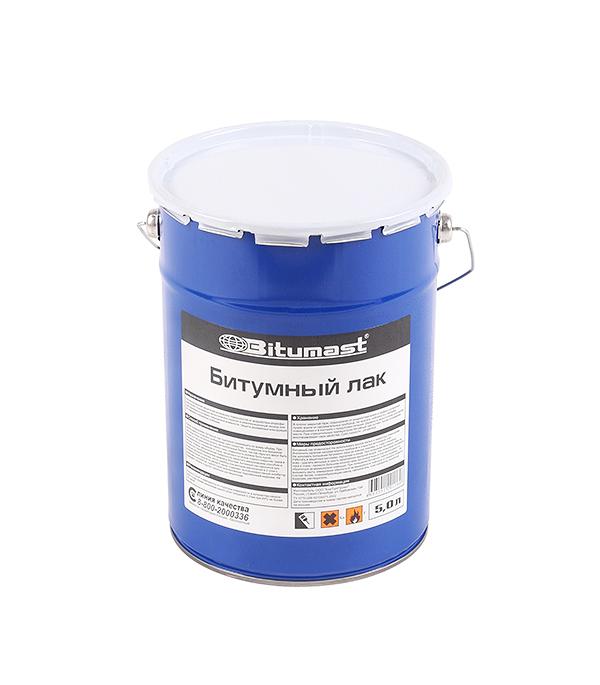 Лак битумный Bitumast 4.5 кг/5 л гидроизоляция акриловая bitumast 7 кг