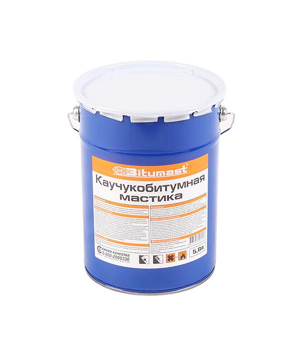Мастика каучукобитумная Bitumast 4.5 кг/5 л  мастика гидроизоляционная bitumast 18 кг 21 5 л