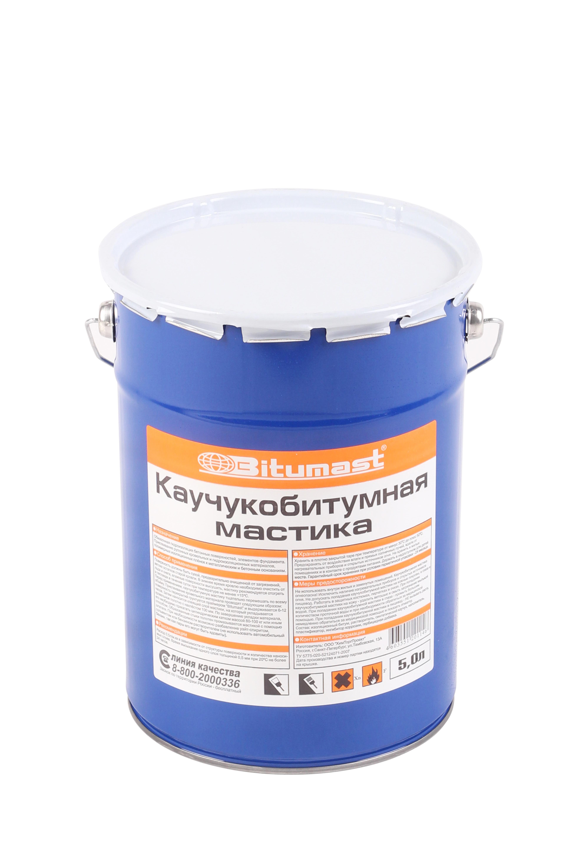 Мастика каучукобитумная Bitumast 4,5 кг/ 5 л