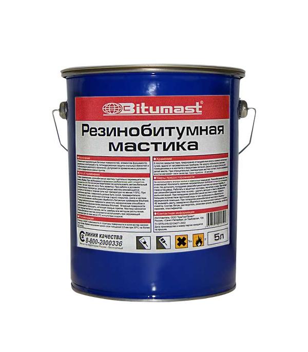 Мастика резинобитумная Bitumast 4.5кг/5л  мастика гидроизоляционная bitumast 18 кг 21 5 л