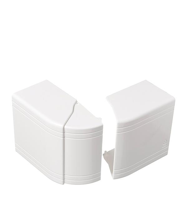 Внешний угол изменяемый для кабель-канала ДКС 100х60 мм белый  рамка суппорт для кабель канала дкс под 6 модулей 100х60 мм белая