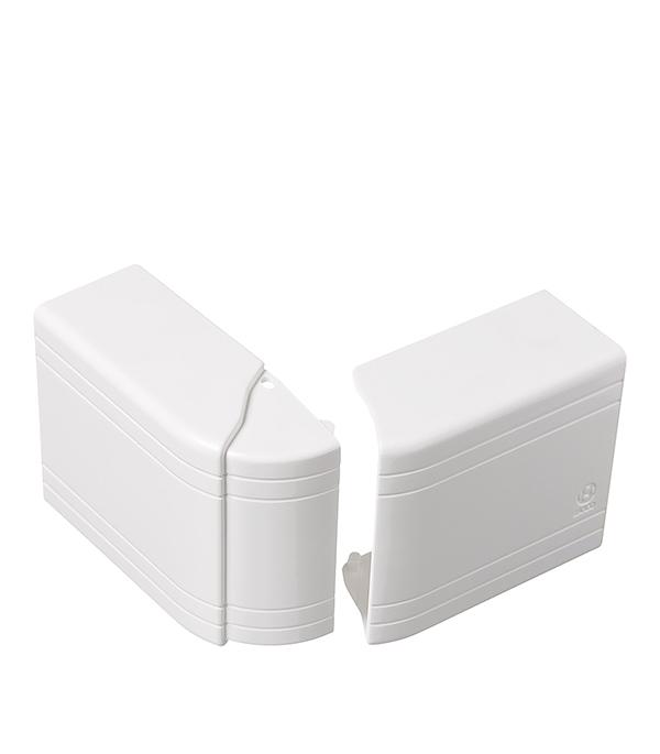 Внешний угол изменяемый для кабель-канала ДКС 80х40 мм белый тройник отвод для кабель канала дкс 80х40 мм белый