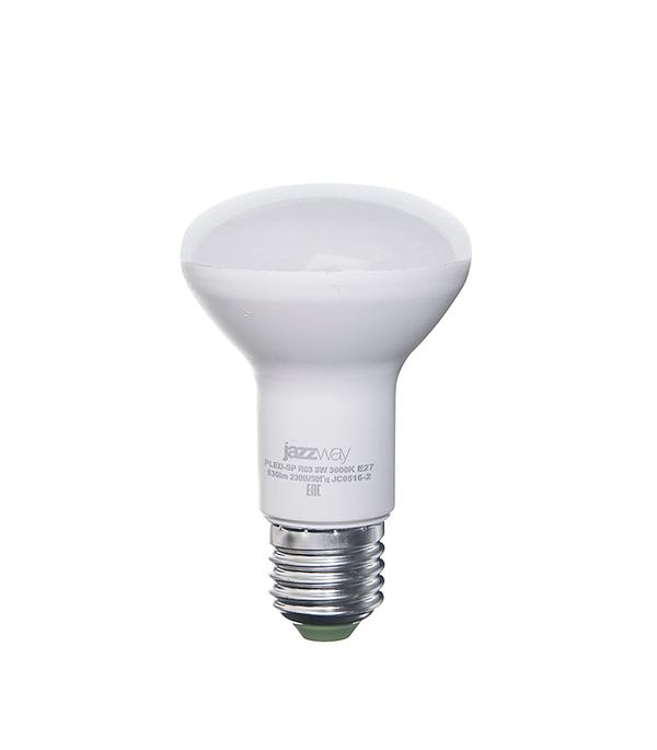 Лампа светодиодная E27, 8W, R63 (рефлектор), 3000K (теплый свет), Jazzway