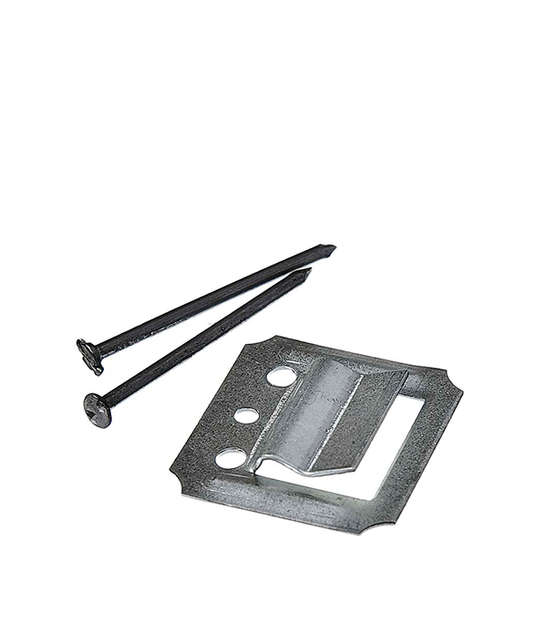 Крепеж (кляймер) №1 с гвоздями для панелей (100 шт)