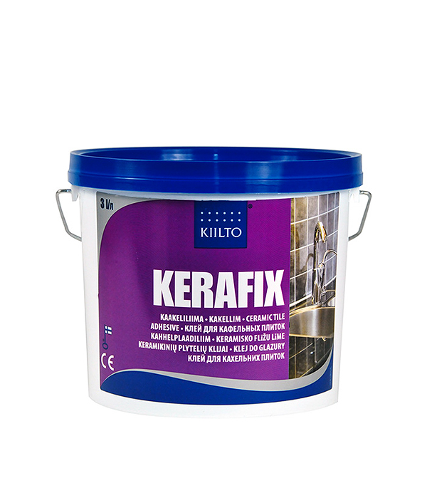 Клей для плитки Kiilto Kerafix готовый 3 л  цена и фото