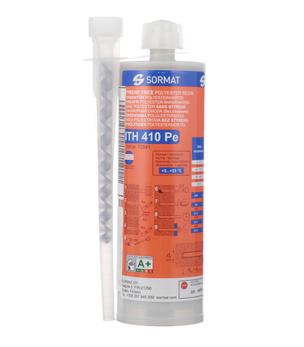Анкер химический (инжекционная масса) 380/410 мл полиэстровая смола Sormat  цена и фото