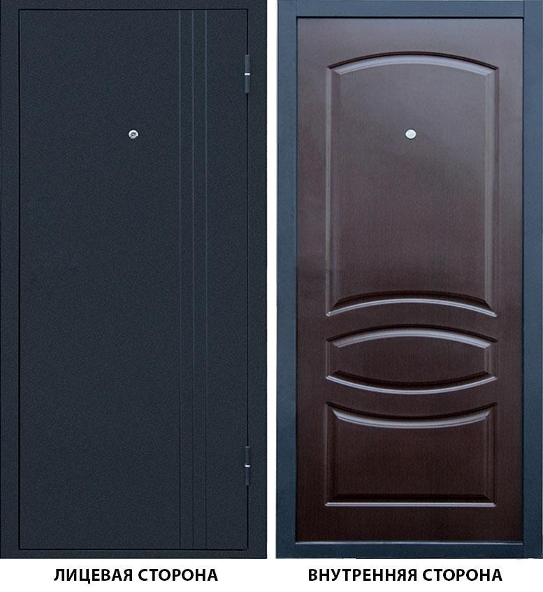 Дверь металлическая Бастион -1 960x2050 мм правая, без цилиндра и ручки