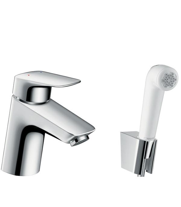 Смеситель для умывальника с гигиеническим душем Hansgrohe Logis 71290