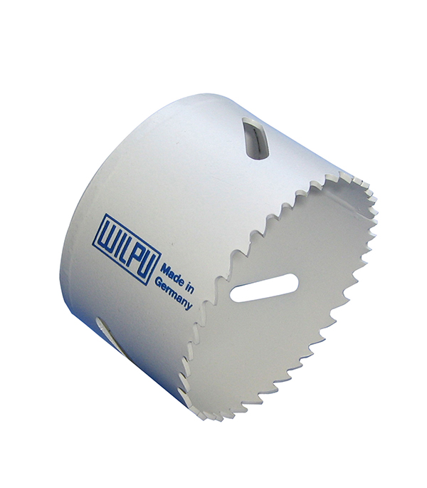 Коронка универсальная Wilpu Профи 46 мм крупный зуб тиски для сверлильного станка в украине
