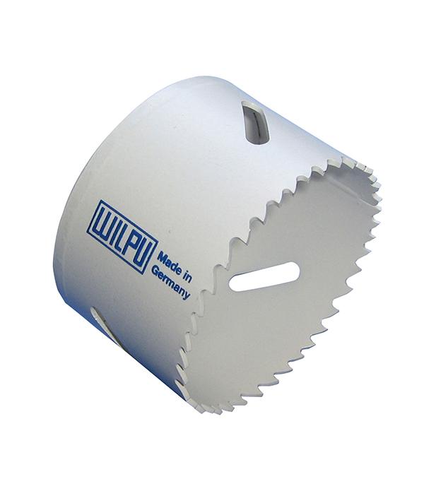 Коронка универсальная Wilpu Профи 76 мм крупный зуб тиски для сверлильного станка в украине