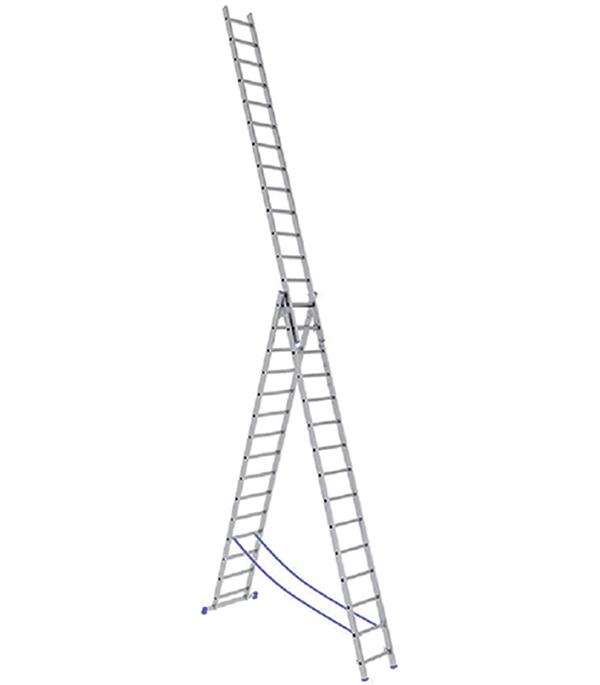 Лестница Stairs 3-х секционная 3х15 лестница алюминиевая 3 х секционная 9 ступеней в спб