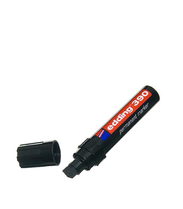 Перманентный маркер Edding 390 черный 4-12 мм маркер белый для изделий из резины шин 2 4 мм edding 8050