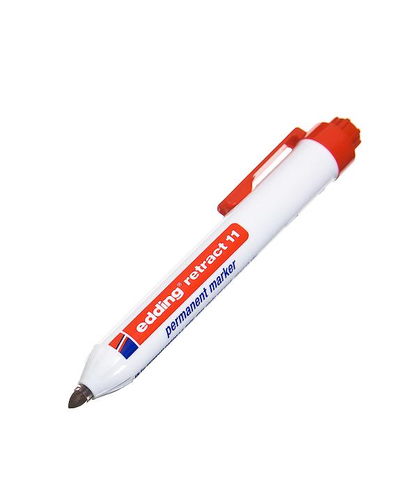 Перманентный маркер Edding retract 11 красный 1.5-3 мм маркер белый для изделий из резины шин 2 4 мм edding 8050