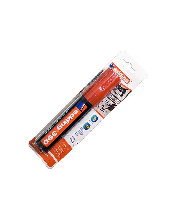 Перманентный маркер Edding 390 красный 4-12 мм маркер белый для изделий из резины шин 2 4 мм edding 8050