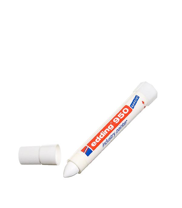 Перманентный маркер Edding 950 белый для грубой древесины 10 мм маркер белый для изделий из резины шин 2 4 мм edding 8050