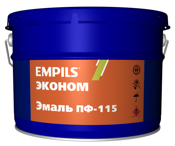Эмаль ПФ-115 зеленая эконом EMPILS 20 кг