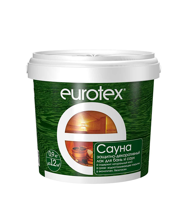 Лак Eurotex Сауна 0,9 кг