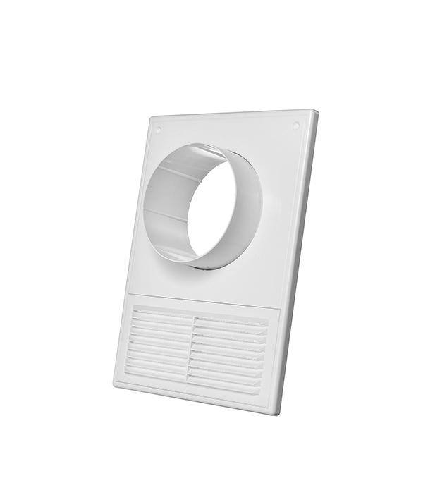 Соединитель для круглых воздуховодов пластиковый 182х252 мм с фланцем d100 мм и решеткой балеринка для плитки с защитной решеткой d20 90 мм